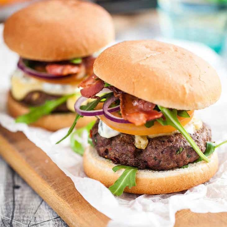 Image of juicy burgers